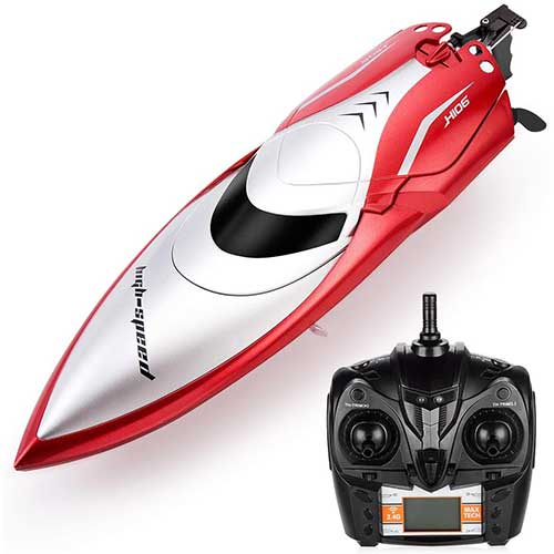 5. Powerextra Remote Control Boat, High Speed Rc Boat for Pools and Lakes, 20+ MPH 2.4 GHz Racing Boats