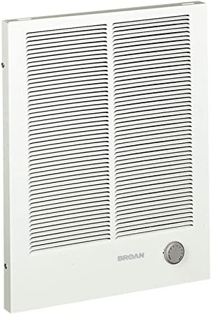 8. Broan-NuTone 198 High Capacity Wall Heater, White Painted Grille, 4000/2000 Watt 240 VAC, 2000/4000