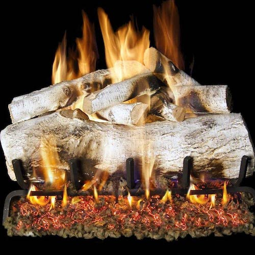 1.Peterson Real Fyre 30-inch Mountain Birch Gas Logs Only No Burner