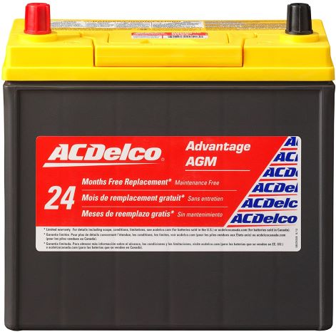 8. ACDelco ACDB24R Advantage AGM Automotive BCI Group 51 Battery