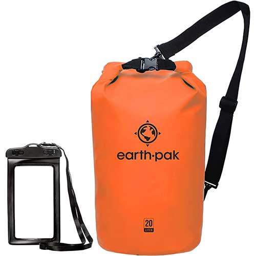 4. Earth Pak -Waterproof Dry Bag - Roll Top Dry Compression Sack Keeps Gear Dry