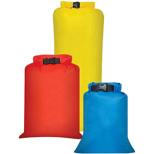 3. Outdoor Products 3-Pack All Purpose Dry Sack, One Size, Assorted, Model:195EC-000