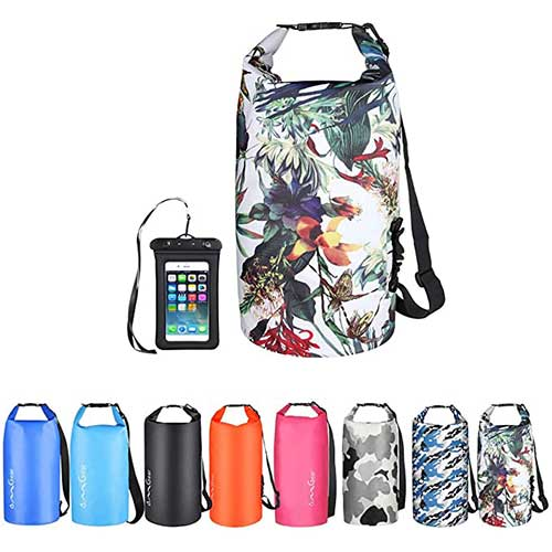 5. OMGear Waterproof Dry Bag Backpack Waterproof Phone Pouch 40L/30L/20L/10L/5L Floating Dry Sack
