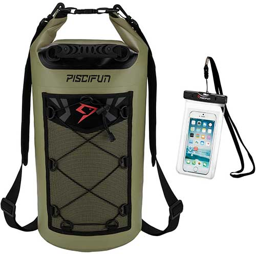 7. Piscifun Waterproof Dry Bag Backpack 5L 10L 20L 30L 40L Floating Dry Backpack