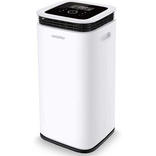 3. Waykar 70 Pint Dehumidifier for Home Basements Bedroom Garage