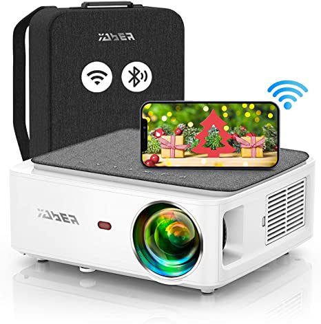 8. YABER V6 WiFi Bluetooth Projector 7500 Lux