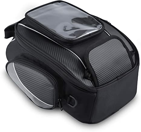 10. Motorcycle Tank Bag Waterproof with Strong Magnetic Motorbike Bag for Honda Yamaha Suzuki Kawasaki Harley Medium
