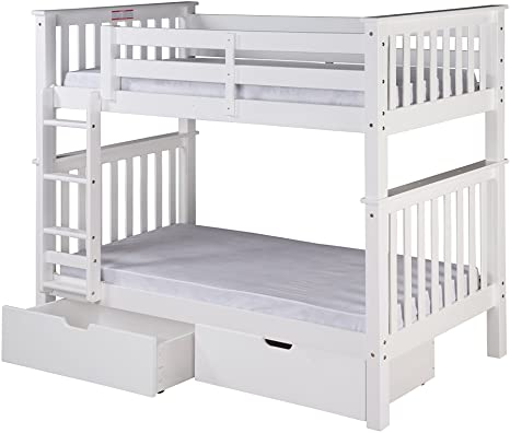 4. Camaflexi Santa Fe Bunk, Twin over Twin, White