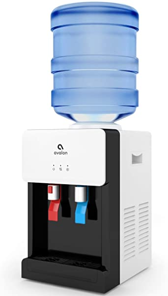 3. Avalon Premium Hot/Cold Top Loading Countertop Water Cooler Dispenser With Child Safety Lock. UL/Energy Star Approved- White