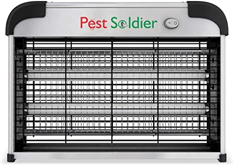 6. Pest Soldier Upgraded 20W Electronic Bug Zapper, Insect Killer - Mosquito, Fly, Moth, Wasp, Beetle & Other pests Killer for Indoor Residential & Commercial
