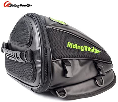 6. Riding Tribe Motorcycle Tail Bag Multifunctional Waterproof Backpack PU Leather Luggage Riding Backseat Rear Storage Bag