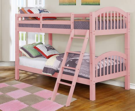 5. Major-Q Wood Frame Bunk Bed with Easy Access Guard Rail (SH45215-23)