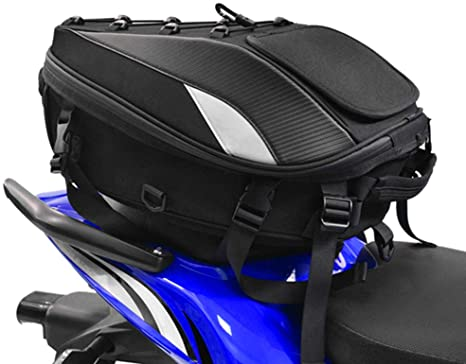2. Motorcycle Seat Tail Bag Backpack Dual Use Motorcycle Waterproof Helmet Bag