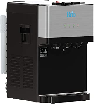 5. Brio Countertop Self Cleaning Bottleless Water Cooler Dispenser with Filtration - Hot Cold and Room Temperature Water