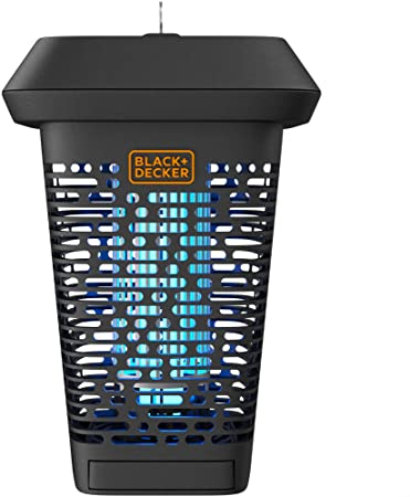4. BLACK+DECKER Bug Zapper | Electric UV Insect Catcher & Killer for Flies, Mosquitoes, Gnats & Other Small to Large Flying Pests | 1 Acre Outdoor Coverage for Home, Deck, Garden, Patio, Camping & More