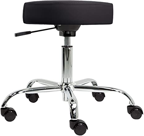 8. EARTHLITE Pneumatic Massage Salon Drafting Stool - No Leaking (vs. Hydraulic), Adjustable, Rolling, CFC-Free / Medical Spa Facial Chair