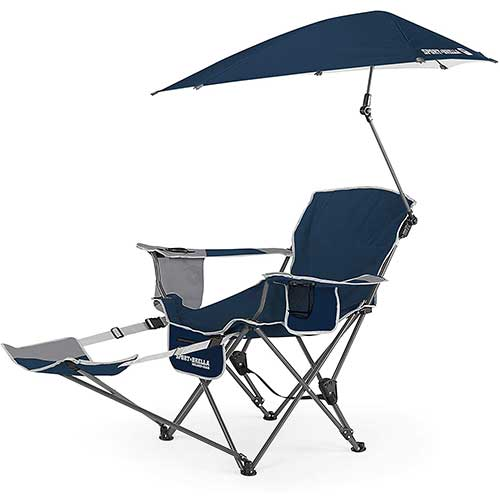 9. Sport-Brella 3-Position Recliner Chair with Removable Umbrella and Footrest