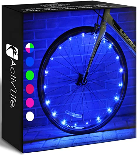 1. Activ Life LED Bike Wheel Lights with Batteries Included! Get 100% Brighter and Visible from All Angles
