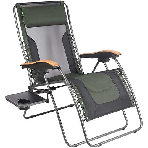 8. PORTAL Oversized Mesh Back Zero Gravity Recliner Chair, XL Padded Seat Adjustable Patio Lounge Chair