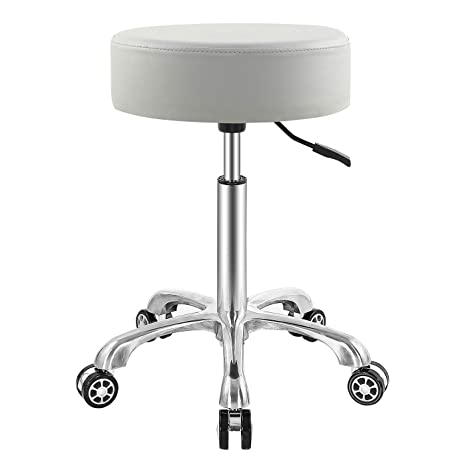 7. EasyLife Professional Swivel Rolling Stool Adjustable Height Hydraulic Stool with Wheels for Clinic Dentist Spa Massage Salons Studio