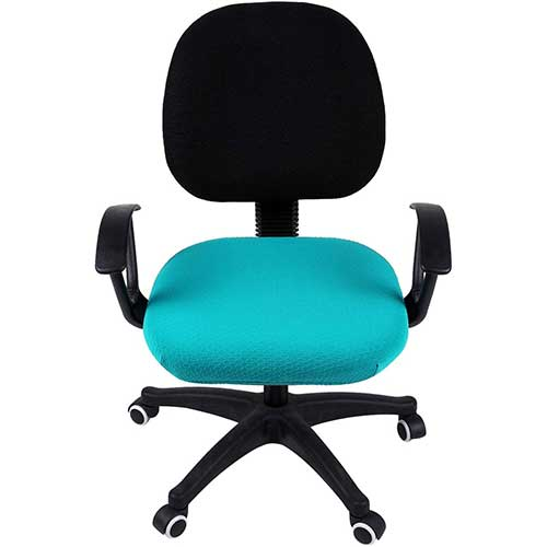 10. smiry Stretch Jacquard Office Computer Chair Seat Covers, Removable Washable Anti-dust Desk Chair Seat Cushion Protectors