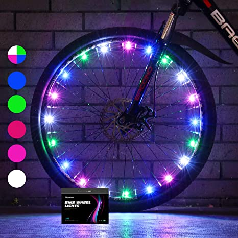 5. Sumree 2-Tire Pack LED Bike Wheel Lights Bike Spoke Light Super Bright Cycling Bicycle Light with Batteries Included