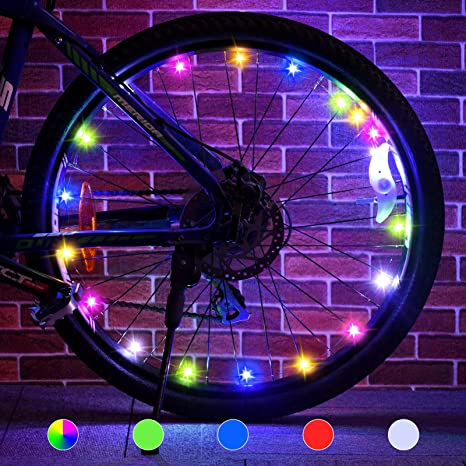 4. Tesoky LED Bike Wheel Lights ( 2-Tire Pack )