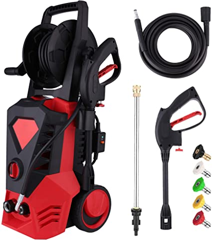 7. Electric Pressure Washer 3500PSI 2.6GPM High Power Washer with 32ft Cable and 5 Quick-Connect Spray Nozzles