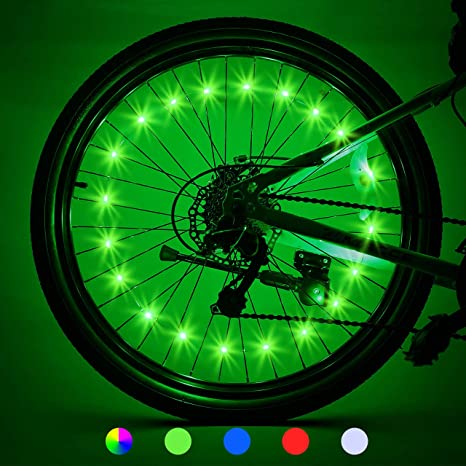 8. LET'S GO! 2-Tire Pack LED Bike Wheel Lights with Batteries Included, Bike Spoke Lights Waterproof Bright Bicycle Light Strip