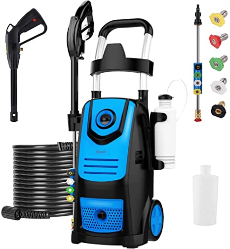 10. Suyncll 3800 PSI 2.8GPM Electric Pressure Washer Electric Power Washer with Soap Bottle (Green)