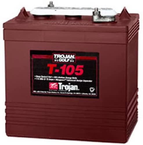 4.Lot of 6 Trojan T-105 6V Golf cart batteries