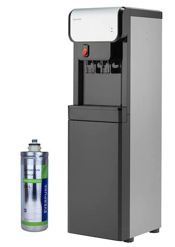 5. Aquverse A6500-K Hot/Cold Bottleless Water Cooler with Filter and Install Kit, Stainless Black