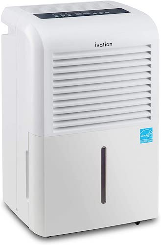 3.Ivation 4,500 Sq Ft Energy Star Dehumidifier with Pump, Large Capacity Compressor