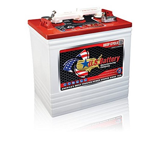 3.Golf Cart Battery US2200 XC2 6-Volt (Minimum Order 1 Set of 4 Batteries)