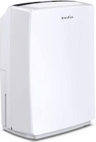 9.Inofia 30 Pint Dehumidifier for 1500 SQ FT Home Basements, Bedroom, Bathroom, Garage, Laundry Room, Grow Room, Office