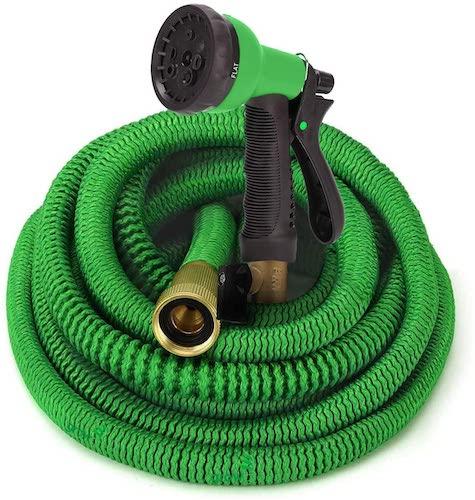 4.GrowGreen Garden Hose, Expandable Garden Hoses, Water Hose with High Pressure Hose Spray Nozzle, Flexible Garden Hose
