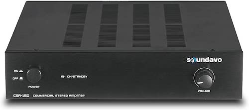 9.Soundavo CSA-150 Stereo Amplifier for Home Audio, Residential and Commercial Installation 450W bridgeable