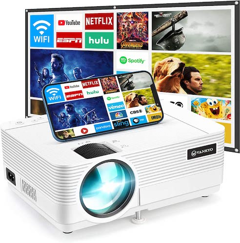 9.VANKYO Leisure 470 Mini WiFi Projector, 2021 Upgraded Portable Video Projector