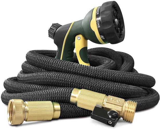 7. NGreen Flexible and Expandable Garden Hose - Strength Durable Fabric and 13-Layer Latex Inner Tube
