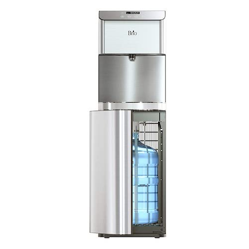 6. Brio Moderna Self Cleaning Bottom Load Hot, Cold & Room Water Cooler Tri Temp W/Touch Dispenser Feature