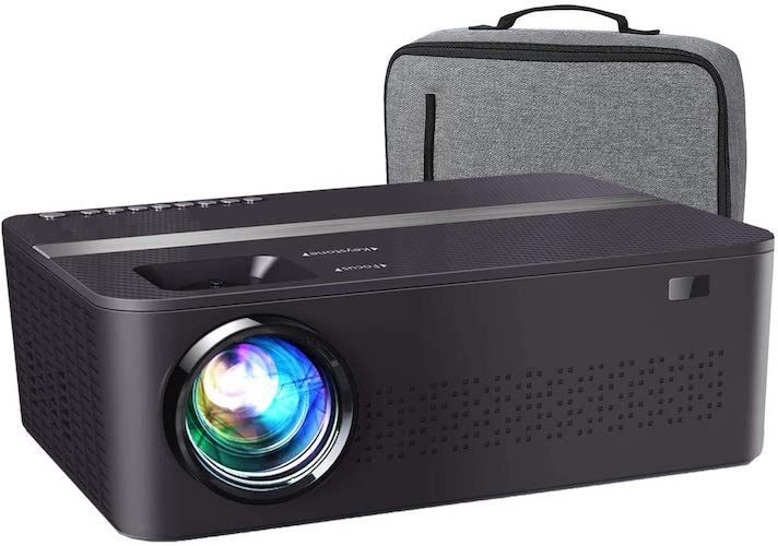 8.XINDA Native 1920x 1080P Projector,7500 L Upgrade Full HD 4K Projector for Outdoor Movies