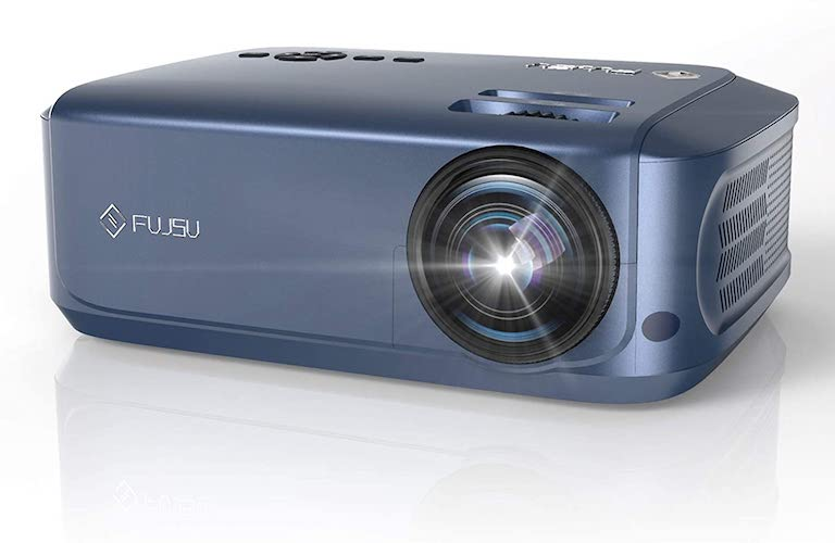 3. 1080P Projector, FUJSU Video Projectors for Business PowerPoint Presentations, Full HD Movie Projector