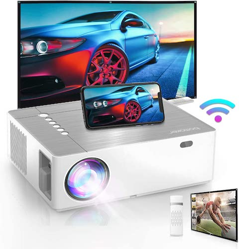2.Bomaker 2021 Upgraded Outdoor Projector, Native 1920 x1080p Full HD Movie Projector for Outdoor use
