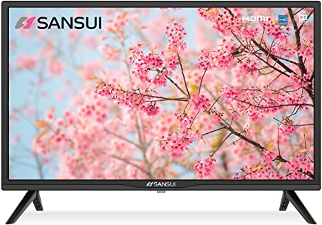 2. SANSUI 24 Inch TV 720P Basic S24 LED HD TV High Resolution Flat Screen Television
