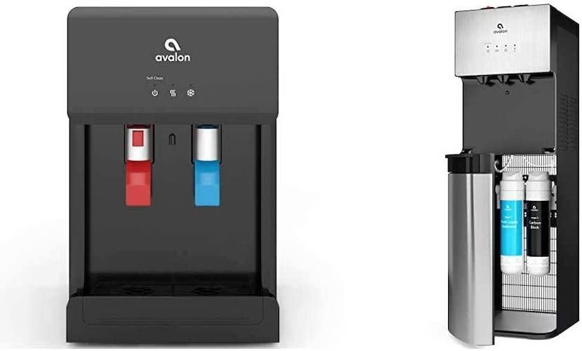 4.Avalon A8CTBOTTLELESSBLK Countertop Self Cleaning Touchless Bottleless Cooler Dispenser & A5 Self Cleaning Bottleless Water Cooler Dispenser