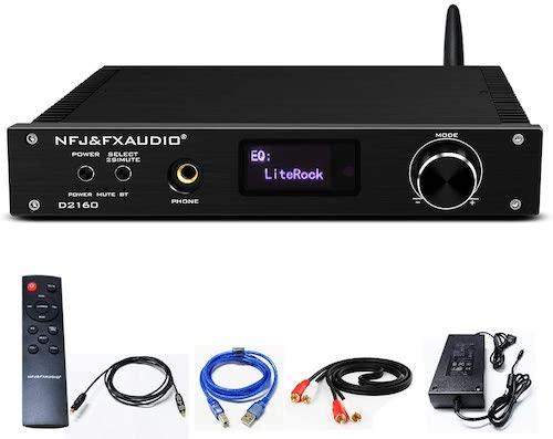 8.FX AUDIO Bluetooth 5.0 Stereo Amplifier- 2 x150W DSP CSR8675 APTX HD LDAC Headphone Amplifier