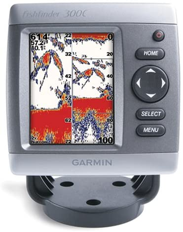 10. Garmin Waterproof Fishfinder 300C with 3.5-Inch Display and Dual-Beam Transducer