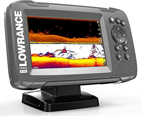 7. Lowrance Hook² 5 with SplitShot Transducer and US/Canada Nav+ Maps
