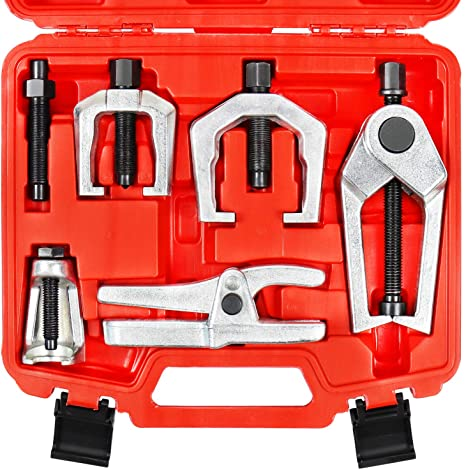 8. YSTOOL Front End Service Tool Set with Automotive Ball Joint Separator Tie Rod End Puller Pitman Arm Remover
