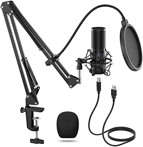 5. TONOR USB Microphone Kit, Streaming Podcast PC Condenser Computer Mic